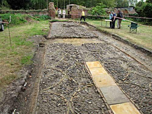 The avenue excavation